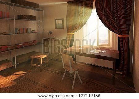 Sunlit Room Interior