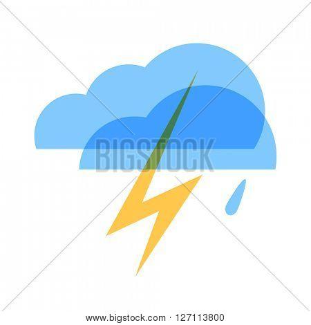 Weather icon. Thunderstorm