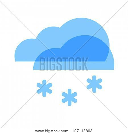 Weather icon. Cloud and Snow