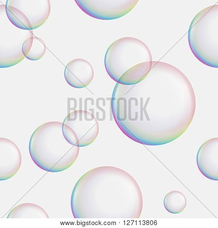 Seamless soap bubbles background