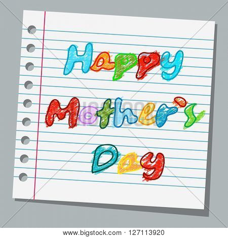 notebook paper happy mothers day