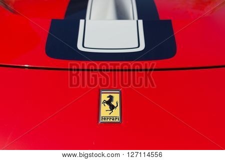 Ferrari Logo On Display