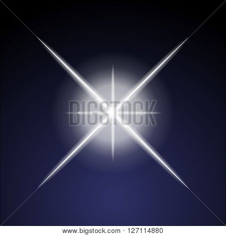 Vector burst on the dark background
