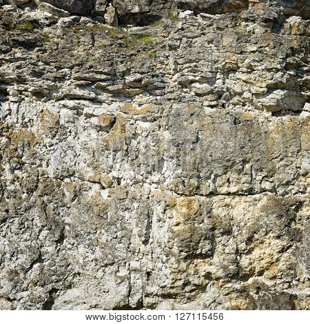 Geological section of sedimentary rocks. Background