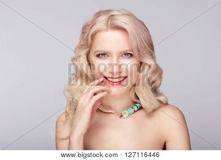 Portrait Of Pretty Smiley Model.