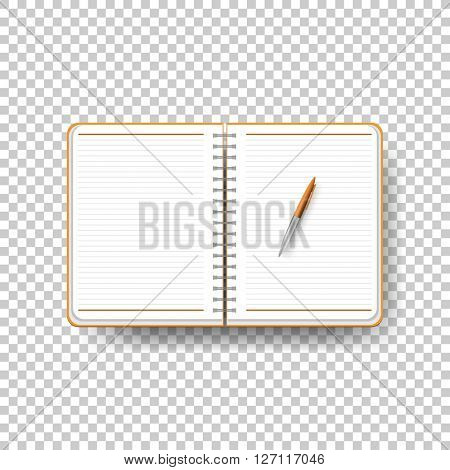 open notebook for writing and studying. eps10 vector