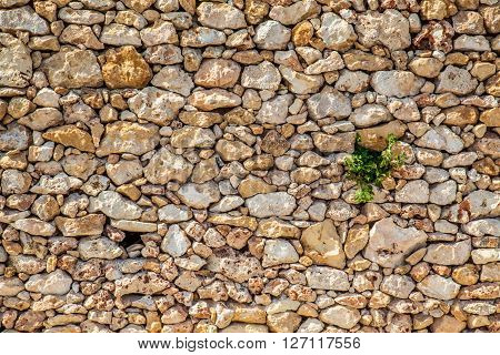 Handmade wall with small different colured stones ** Note: Soft Focus at 100%, best at smaller sizes