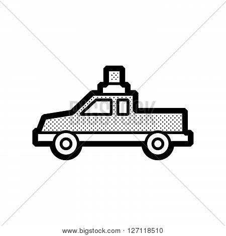 Pickup truck ambulance car icon design support vector design  eps 10.