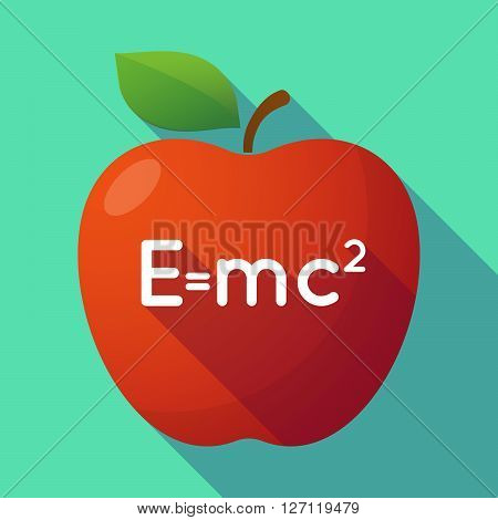 Long Shadow Red Apple With The Theory Of Relativity Formula