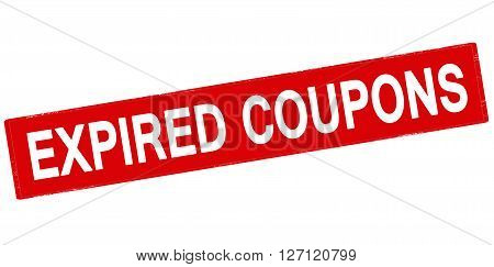 Rubber stamp with text expired coupons inside vector illustration