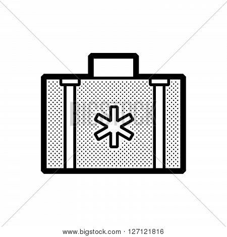 Flat design ambulance bag icon support vector design  eps 10.