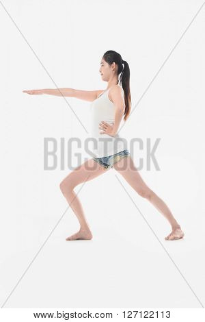 sport and lifestyle concept - woman doing sports