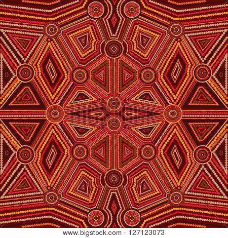 Abstract style of Australian Aboriginal art. Vector geometric background pattern. Ethnic style.