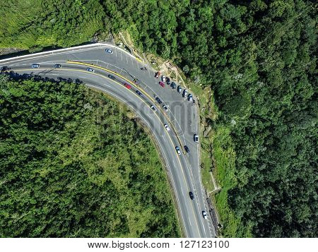 Top View of Curve in a Highway
