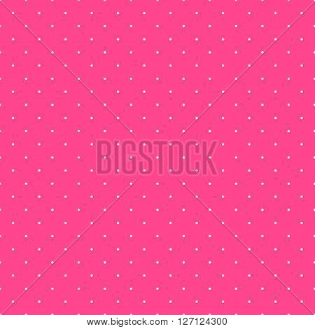Cute pink seamless pattern. Endless texture for wallpaper, fill, web page background, surface texture. Soft circle and dot ornament. Pink, white pretty colors