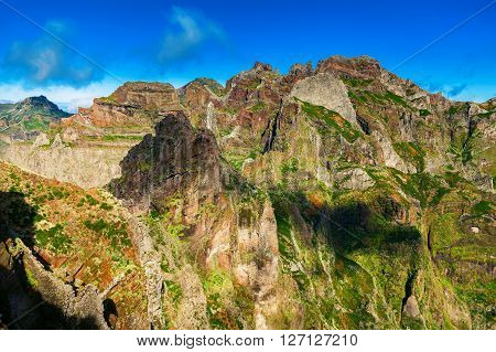 beautiful Pico do Arieiro landscape Madeira Portugal
