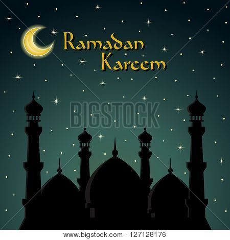 Ramadan Kareem greeting card. EPS10 vector illustration.