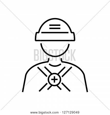 line icon avatar design Rescuers Medical support vector design EPS10.