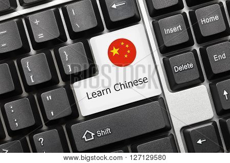 Conceptual Keyboard - Learn Chinese (key With National Flag)