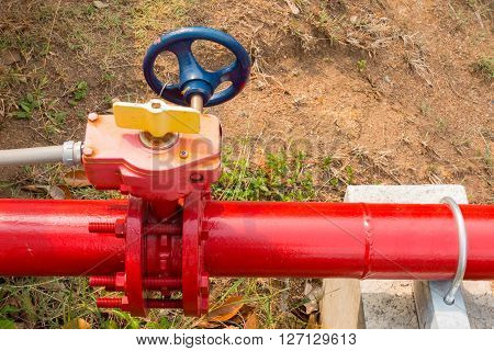 Supervisory valve for fire protection system, Control main valve.