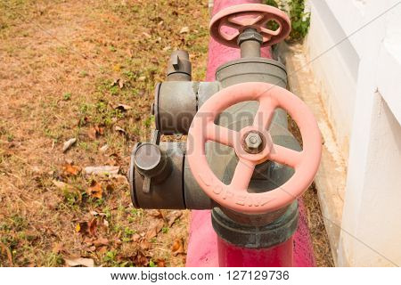 Fire hydrants outside building, Fire proof system.