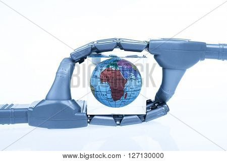 robotic mechanical arm with globe