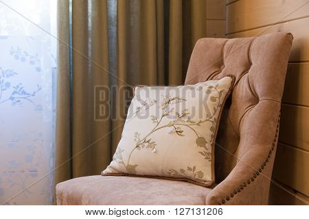Easy Chair With A Pillow