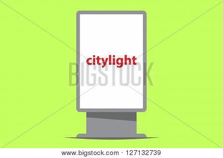 citylight outdoor advertising vector illustration flat design