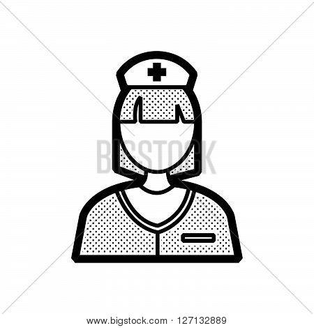 nurse icon design vector support vector design  eps 10.