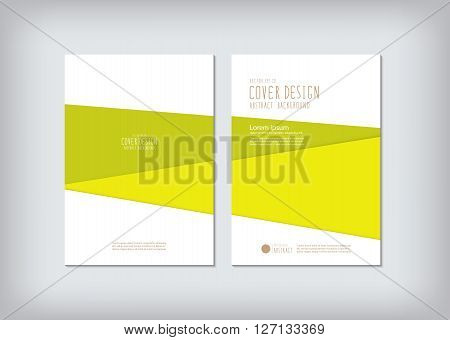 The annual report covers the business and graphic shapes like green bar vector.