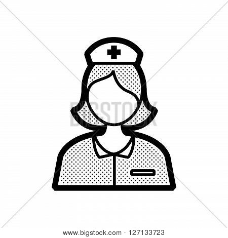 nurse avatar icon design vector support vector design  eps 10.