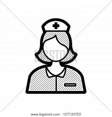 nurse avatar icon design vector support vector design  eps 10.