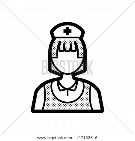 nurse icon old clothe style support vector design  eps 10.