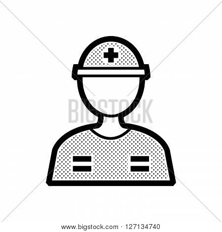 man Rescuers Medical avatar support vector design  eps 10.