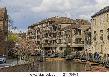 River, Boats At Cambridge