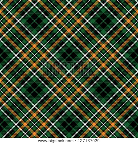 green tartan celtic fc seamless pattern diagonal fabric texture. Vector illustration. EPS 10. No transparency. No gradients.