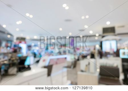 department store shopping mall image blur defocused background