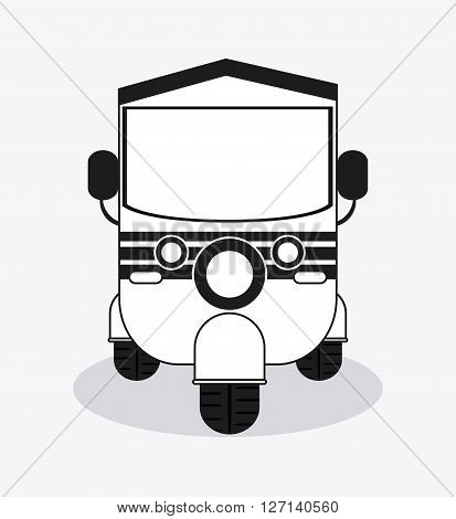 rickshaw concept with icon design, vector illustration 10 eps graphic.