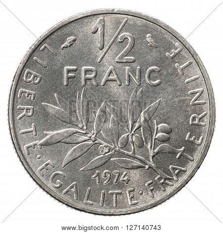 50 Silver French Sentimos