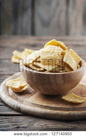 Traditional Mexican Chips On The Table