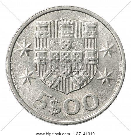 Five Portuguese Escudo