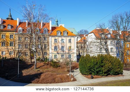 Barbican And Old Town Square In Warsaw In A Sunny Day