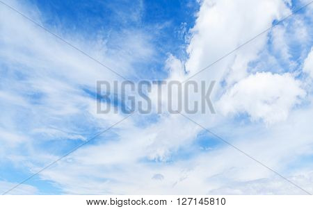 Blue Sky And White Clouds. Natural Background