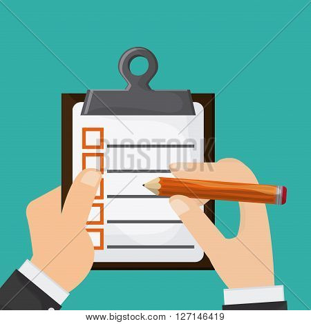 Checklist concept with icon design, vector illustration 10 eps graphic.
