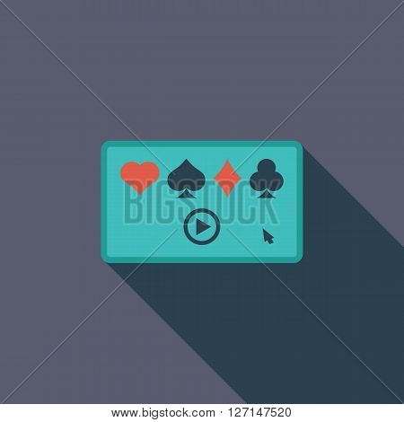 Video game icon. Flat vector related icon with long shadow for web and mobile applications. It can be used as - logo, pictogram, icon, infographic element. Vector Illustration.