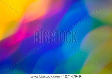Abstract de-focused light blur formed by light reflecting off a metallic surface