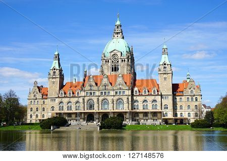 New City Hall building in Hannover, Germany