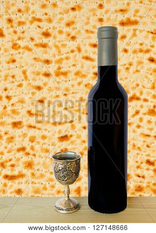 Traditional drink and food for celebration of Jewish Passover