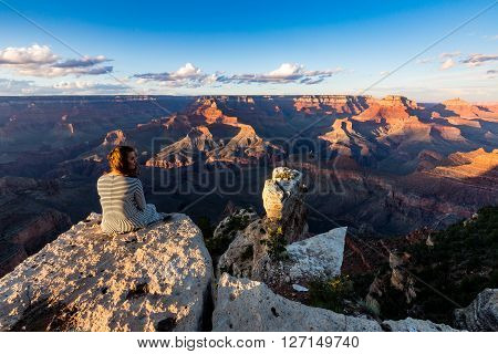 Grand Canyon At Sunset Views From Yaki Point, Arizona