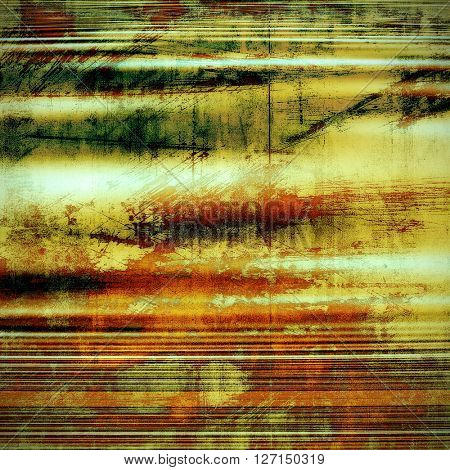 Vintage background - dirty ancient texture. Antique grunge backdrop with different color patterns: yellow (beige); brown; green; red (orange); gray; cyan
